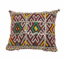Moroccan Kilim Cushion Vintage Authentic Wool Hand Embroidered Hand Stitched 56 cm x 38 cm VC18